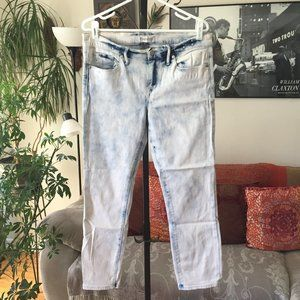 MADEWELL sz 30 Bleached Out Acid Wash Skinny Jeans